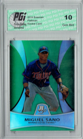 Miguel Sano 2011 Bowman Platinum #PP28 Green SP, 499 Made Rookie Card PGI 10