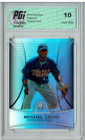 Miguel Sano 2011 Bowman Platinum #PP28 Refractor 999 Made Rookie Card PGI 10