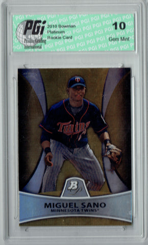 Miguel Sano 2011 Bowman Platinum #PP28 Gold SP, 539 Made Rookie Card PGI 10