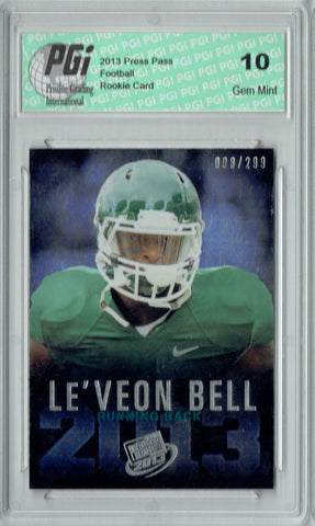 Le'veon Bell 2013 Press Pass #7 Reflector 299 Made Rookie Card PGI 10