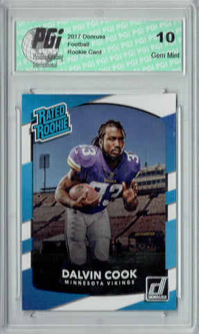 Dalvin Cook 2017 Donruss #343 Rookie Card PGI 10