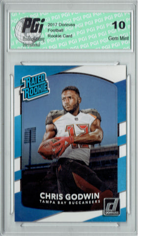 Chris Godwin 2017 Donruss #305 Rated Rookie Card PGI 10