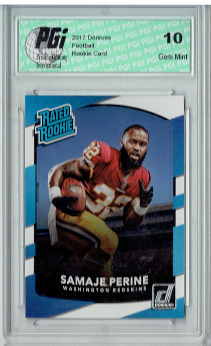 Samaje Perine 2017 Donruss #306 Rated Rookie Card PGI 10