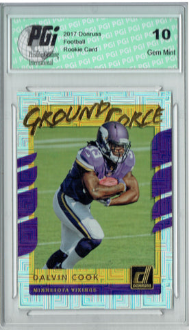 Dalvin Cook 2017 Donruss #17 Ground Force Rookie Card PGI 10