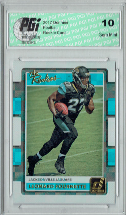 Leonard Fournette 2017 Donruss #2 The Rookies SP Rookie Card PGI 10