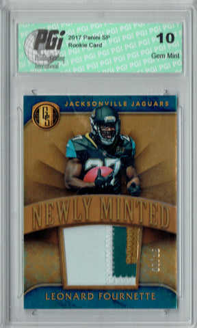 Leonard Fournette 2017 Gold Standard #2 3 clr Patch 25 Made Rookie Card PGI 10