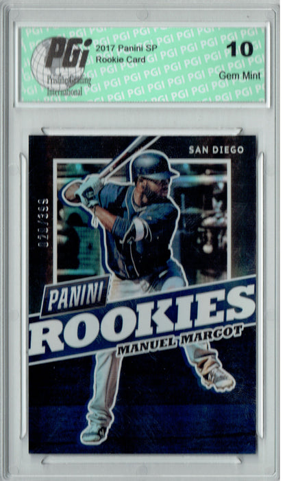 Manuel Margot 2017 Panini SP #BB33 Only 399 Made Rookie Card PGI 10