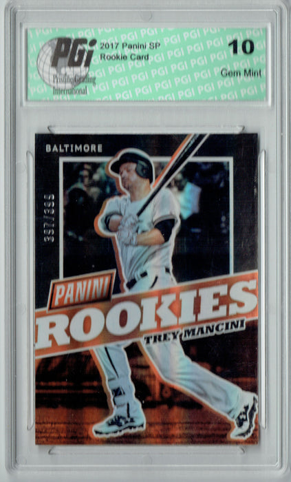 Trey Mancini 2017 Panini SP #BB40 Only 399 Made Rookie Card PGI 10