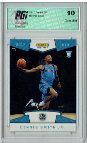 Dennis Smith Jr. 2017 Panini #34 First Look, 1/364 Made Rookie Card PGI 10