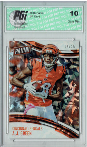 A.J. Green 2016 Panini Cracked Ice #20 Only 25 Made Card PGI 10