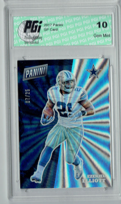 Ezekiel Elliott 2017 Panini Rainbow SP #FB8 Only 25 Made Card PGI 10