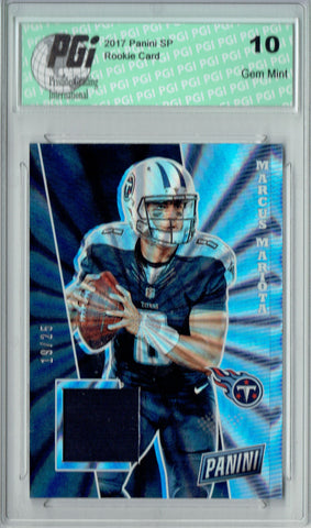 Marcus Mariota 2017 Panini Rainbow Jersey Card SP #MM #19/25 PGI 10