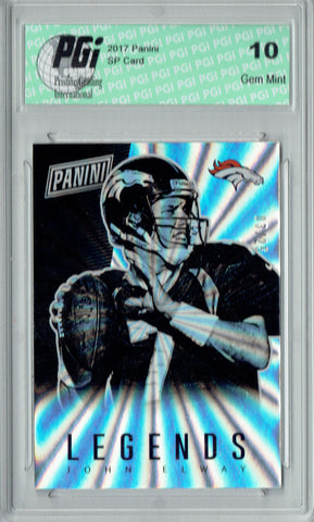 John Elway 2017 Panini Rainbow SP #LEG13 Only 25 Made Card PGI 10