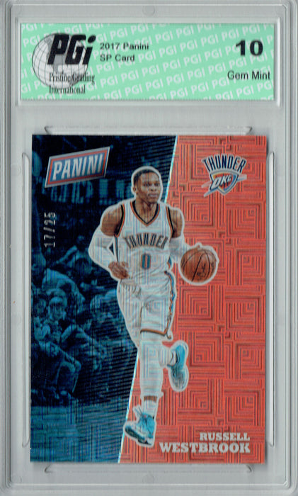 Russell Westbrook 2017 Panini Squares SP #BK17 Only 25 Made Card PGI 10