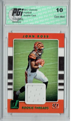 John Ross 2017 Donruss #6 Green Rookie Threads SP Rookie Card PGI 10