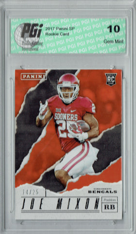 Joe Mixon 2017 Panini SP #57 Only 25 Made Rookie Card PGI 10