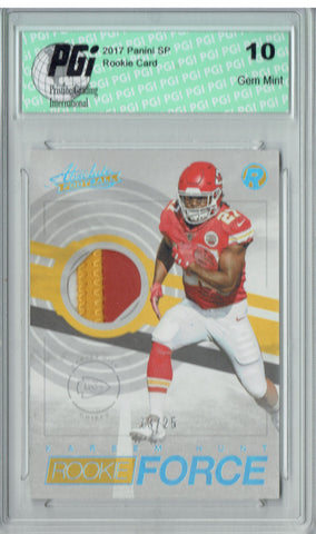 Kareem Hunt 2017 Absolute Rookie Force #17 Patch #13/25 Rookie Card PGI 10