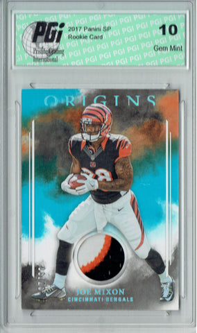 Joe Mixon 2017 Panini Origins #RP-JM 3 Color Patch, 25 Made Rookie Card PGI 10