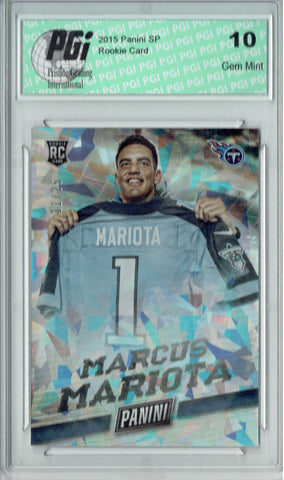 Marcus Mariota 2017 Panini Cracked Ice #25 Only 25 Made Rookie Card PGI 10