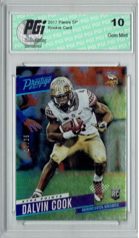 Dalvin Cook 2017 Prestige Xtra #205 Only 25 Made Rookie Card PGI 10
