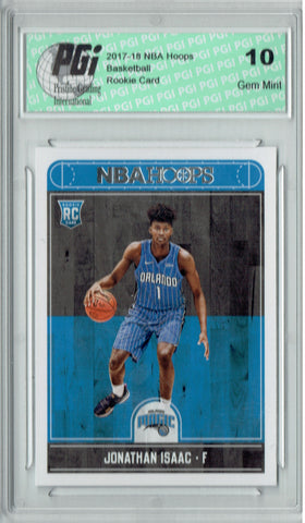 Jonathan Isaac 2017-2018 Hoops #256 NBA Rookie Card PGI 10