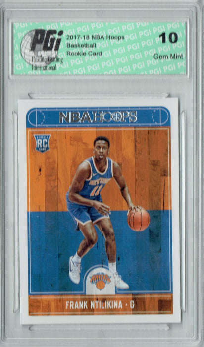 Frank Ntilikina 2017-2018 Hoops #258 NBA Rookie Card PGI 10