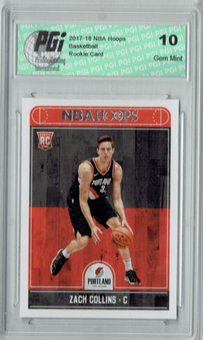 Zach Collins 2017-2018 Hoops #260 NBA Rookie Card PGI 10