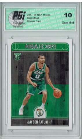 Jayson Tatum 2017-2018 Hoops #253 NBA Rookie Card PGI 10
