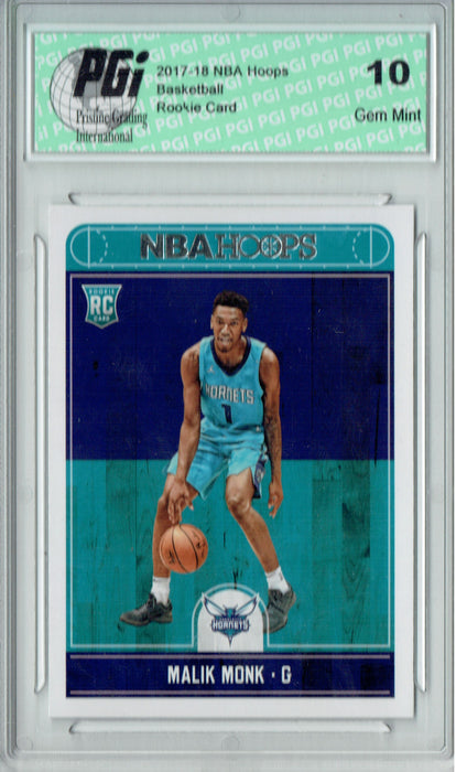 Malik Monk 2017-2018 Hoops #261 NBA Rookie Card PGI 10