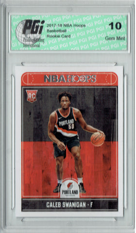 Caleb Swanigan 2017-2018 Hoops #276 NBA Rookie Card PGI 10