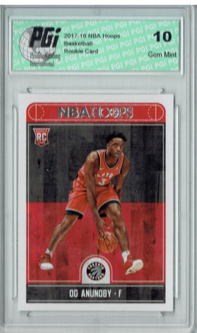 OG Anunoby 2017-2018 Hoops #273 NBA Rookie Card PGI 10