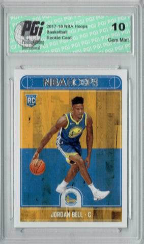 Jordan Bell 2017-2018 Hoops #288 NBA Rookie Card PGI 10