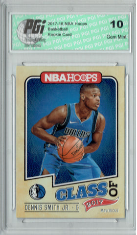 Dennis Smith Jr. 2017 Hoops #9 Class of 2017 SSP Rookie Card PGI 10