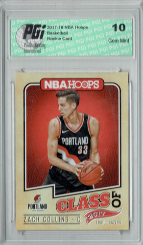 Zach Collins 2017 Hoops #10 Class of 2017 SSP Rookie Card PGI 10