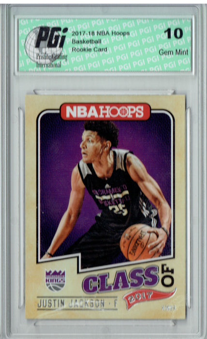 Justin Jackson 2017 Hoops #15 Class of 2017 SSP Rookie Card PGI 10