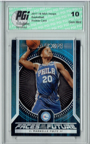 Markelle Fultz 2017 Hoops #1 Faces of the Future SSP Rookie Card PGI 10