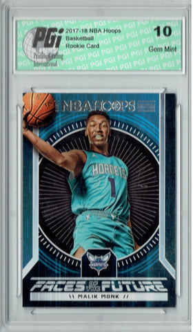 Malik Monk 2017 Hoops #11 Faces of the Future SSP Rookie Card PGI 10