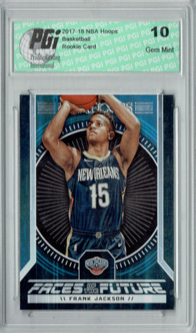 Frank Jackson 2017 Hoops #14 Faces of the Future SSP Rookie Card PGI 10