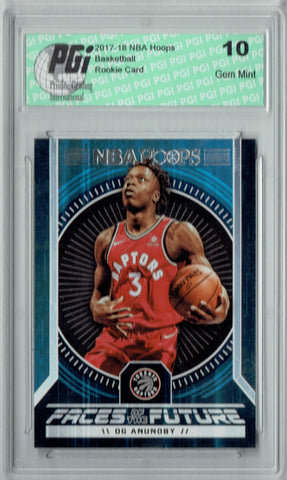 OG Anunoby 2017 Hoops #15 Faces of the Future SSP Rookie Card PGI 10