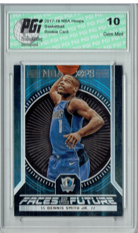Dennis Smith Jr. 2017 Hoops #9 Faces of the Future SSP Rookie Card PGI 10