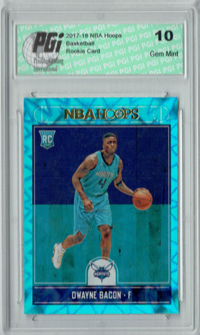 Dwayne Bacon 2017 Hoops #290 Teal Explosion Rookie Card PGI 10