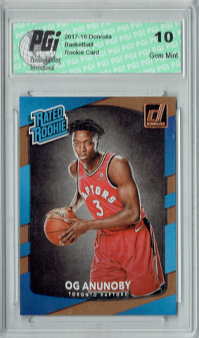 OG Anunoby 2017-2018 Donruss #178 NBA Rated Rookie Card PGI 10