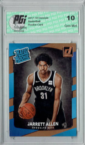 Jarrett Allen 2017-2018 Donruss #179 NBA Rated Rookie Card PGI 10