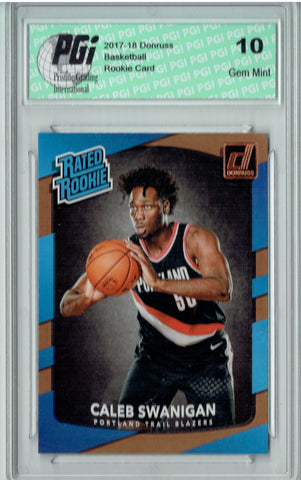 Caleb Swanigan 2017-2018 Donruss #175 NBA Rated Rookie Card PGI 10