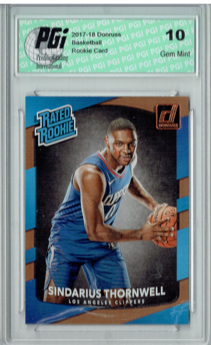 Sindarius Thornwell 2017-2018 Donruss #194 NBA Rated Rookie Card PGI 10