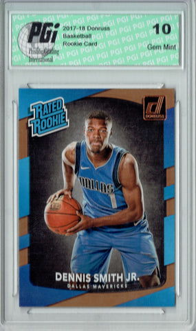 Dennis Smith Jr. 2017-2018 Donruss #192 NBA Rated Rookie Card PGI 10