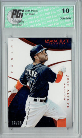 Jose Altuve 2015 Panini Immaculate #52 Only 25 Made Card PGI 10