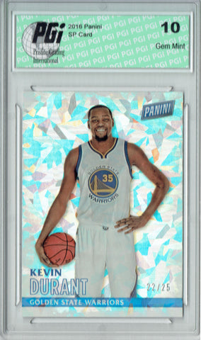 Kevin Durant 2016 Panini Cracked Ice #1 Only 25 Made Card PGI 10