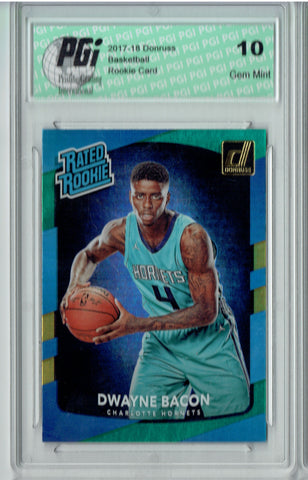 Dwayne Bacon 2017 Donruss #161 Blue Green Laser SP Rookie Card PGI 10