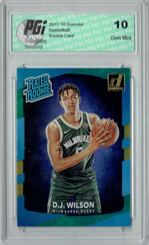 D.J. Wilson 2017 Donruss #184 Blue Green Laser SP Rookie Card PGI 10
